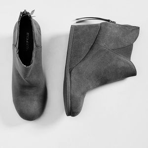 Maurices Shoes - Maurice's Gray bootie Chloe Twin Gore 8